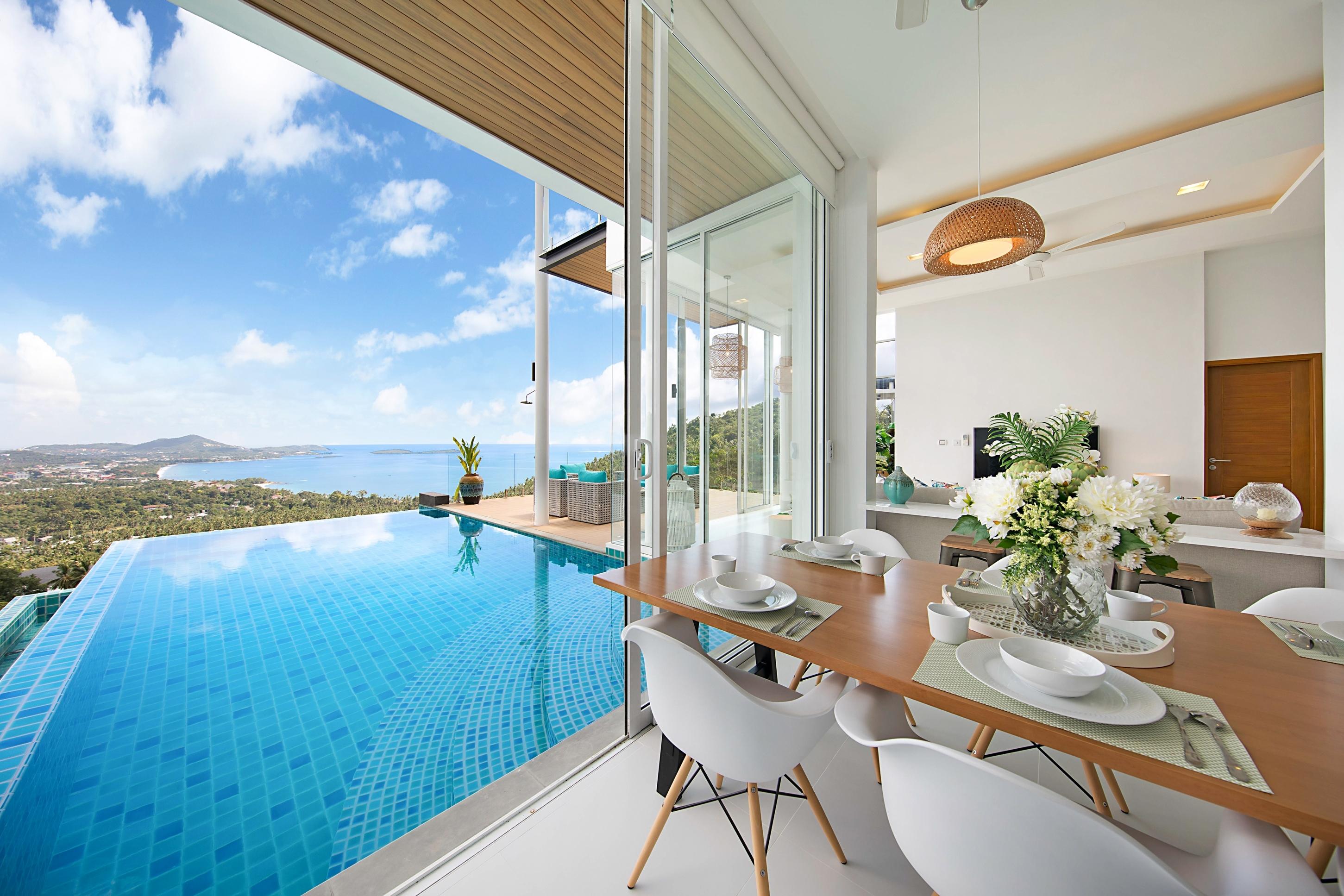 The blue sea villa looks just heavenly