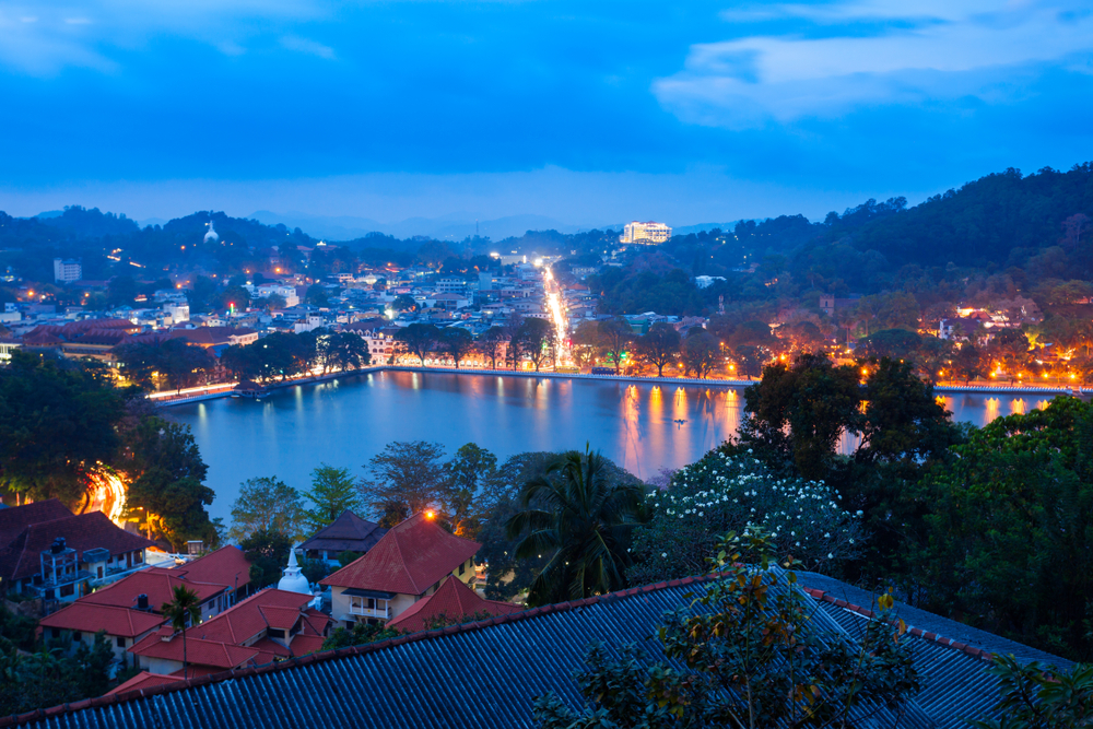 Night lights of Kandy