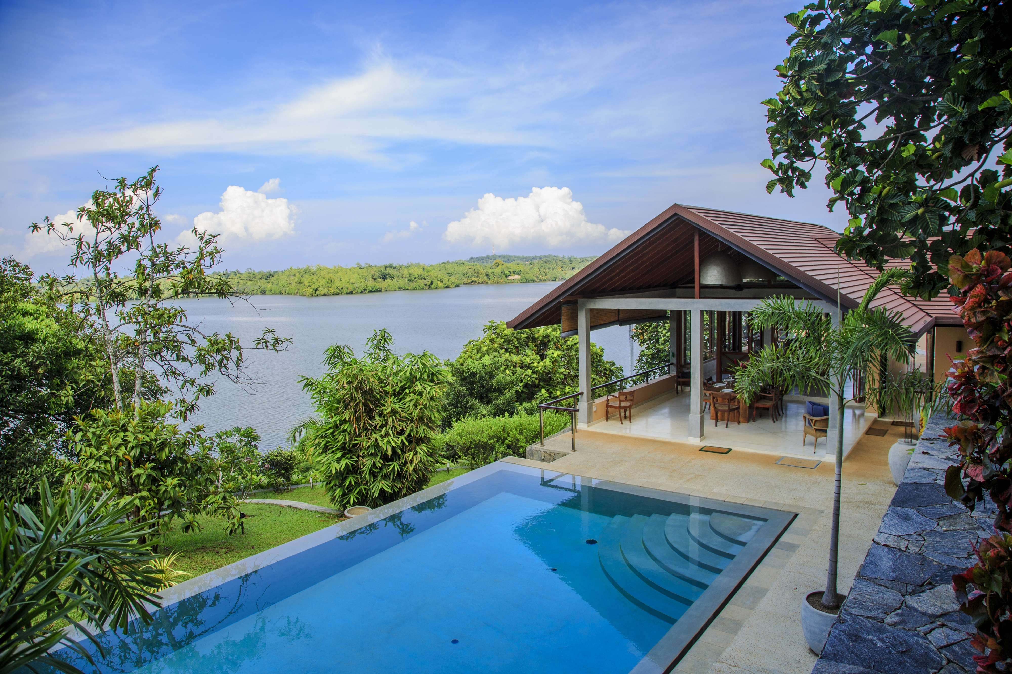 Enjoy the views from your private infinity pool in Sri Lanka